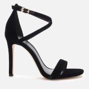 MICHAEL MICHAEL KORS Women's Antonia Velvet Heeled Sandals - Black