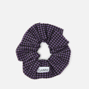 Ganni Women's Seersucker Check Scrunchie - Deep Lavender
