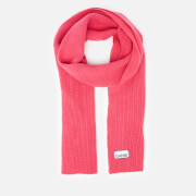 Ganni Women's Knitted Scarf - Hot Pink