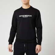 Emporio Armani Men's Large Logo Sweatshirt - Black
