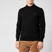 Polo Ralph Lauren Men's Merino Knitted Polo Collar Jumper - Black