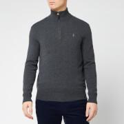 Polo Ralph Lauren Men's Half Zip Sweatshirt - Dark Charcoal Heather