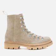 Grenson Men's Brady Suede Hiking Style Boots - Pearl