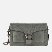 Coach Women's Metallic Leather Tabby Chain Crossbody - Graphite