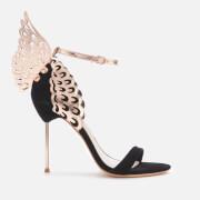 Sophia Webster Women's Evangeline Barely There Heeled Sandals - Black/Rose Gold