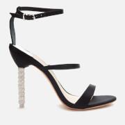 Sophia Webster Women's Rosalind Crystal Triple Strap Heeled Sandals - Black