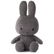 Miffy Sitting Corduroy 50cm Soft Toy - Dark Grey