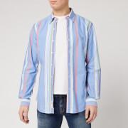 Polo Ralph Lauren Men's Long Sleeve Oxford Shirt - Blue/Red/Multi