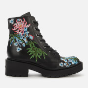 KENZO Women's Pike Lace Up Boots - Black