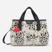 Radley Women's Leopard Oilskin Medium Ziptop Grab Multiway Bag - Aluminium
