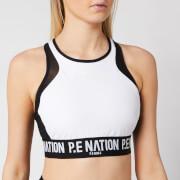 P.E Nation Women's Centre Forward Sports Bra - White