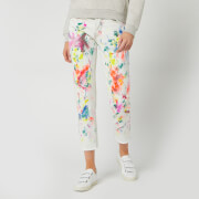 Polo Ralph Lauren Women's Avery Paint Splatter Jeans - Light Indigo