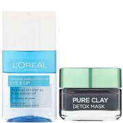L'Oréal Paris Detox Face Mask and Makeup Remover Duo Exclusive (Worth £13.98)