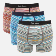 PS Paul Smith Men's 3 Pack Trunk Boxer Shorts - Multi Coloured Stripe