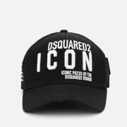 Dsquared2 Men's Icon Slogan Baseball Cap - Black/White