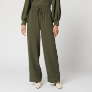 Ganni Women's Recycled Heavy Crepe Trouser - Kalamata