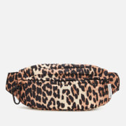 Ganni Women's Tech Fabric Hip Bag - Leopard