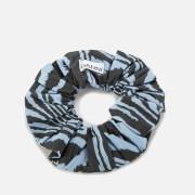 Ganni Women's Printed Cotton Poplin Scrunchie - Forever Blue