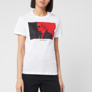 Karl Lagerfeld Women's Legend Colour Block T-Shirt - White
