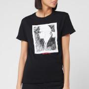 Karl Lagerfeld Women's Legend Profile T-Shirt - Black