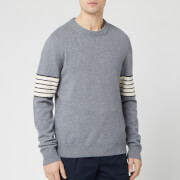 Maison Margiela Men's Sleeve Stripe Knitted Jumper - Grey