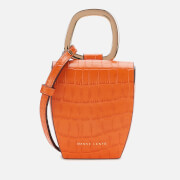 Danse Lente Women's Magnetic Box Bag - Mango Croc