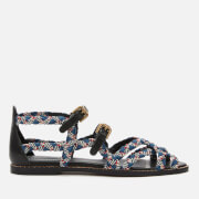 See By Chloé Women's Braidlace Sandals - Red Blue/Black White