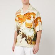 Acne Studios Men's Horse Print Shirt - Cream Multi