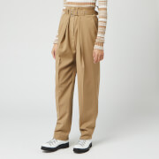 JW Anderson Women's Belted Tapered Trousers - Beige