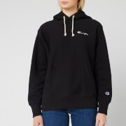 Champion Women's Small Script Hooded Sweatshirt - Black