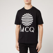McQ Alexander McQueen Men's Dropped Shoulder Logo T-Shirt - Darkest Black