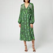 ROTATE Birger Christensen Women's Kira Midi Dress - Stone Green