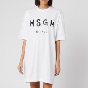 MSGM Women's T-Shirt Dress - White