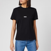 MSGM Women's Centre Logo T-Shirt - Black