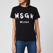 MSGM Women's Graffiti Logo T-Shirt - Black