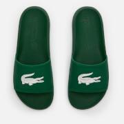 Lacoste Men's Croco 119 Slide Sandals - Green/White