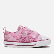Converse Toddlers' Chuck Taylor All Star 2V Mermaid Ox Trainers - Peony Pink/Rose Maroon/White
