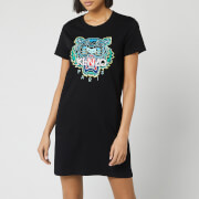 KENZO Women's Classic Tiger T-Shirt Dress - Black