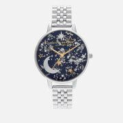 Olivia Burton Women's Celestial Sunray Bracelet Watch - Navy/Silver