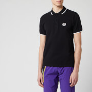 KENZO Men's Short Sleeve Tiger Crest Polo Shirt - Black