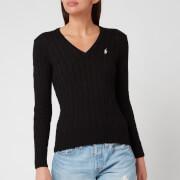 Polo Ralph Lauren Women's Kimberly Classic Long Sleeve Sweatshirt - Black/White PP