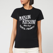 Maison Kitsuné Women's T-Shirt Palais Royal - Black