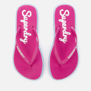 Superdry Women's Neon Rainbow Sleek Flip Flops - Sienna Pink