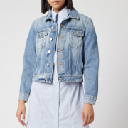 Ganni Women's Washed Denim Jacket - Washed Indigo