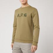 A.P.C. X Carhartt Men's Ice H Sweatshirt - Khaki