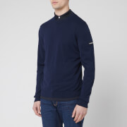 Emporio Armani Men's Sleeve Logo Knitted Jumper - Navy