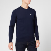 Emporio Armani Men's Small Eagle Knitted Jumper - Navy