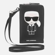Karl Lagerfeld Women's K/Ikonik Phone Holder - Black