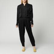 Isabel Marant Women's Varzea Evening Jacquar Overalls - Black