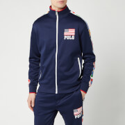 Polo Ralph Lauren Men's Zip Up Flag Track Jacket - Newport Navy